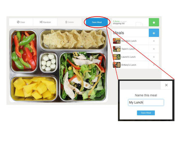 Plan-It-Box users can visualize their lunch and choose from tasty foods for each compartment.  (PRNewsFoto/PlanetBox)