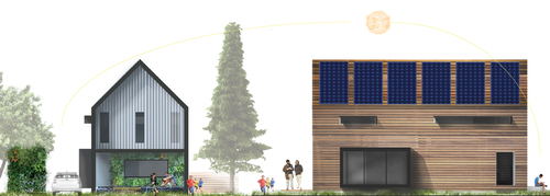 Winning design for perFORM 2014 competition, by Cameron Huber, University of Oregon student (PRNewsFoto/Hammer & Hand)