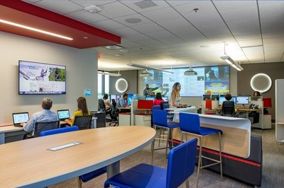 Inside Georgia Power's new Social Media Center. The company currently engages with customers more than 6,000 times every month on social media and works to provide useful information on energy efficiency, solar energy, electrical safety and more.