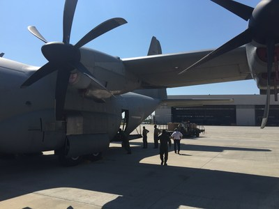 Guardians being loaded onto a C-130