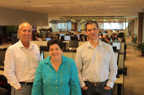 Rodolfo Zabisky and Marcelo Molnar with Cristina Panella, new Grupo Attitude partner. (PRNewsFoto/Grupo ...