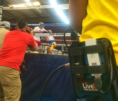 As boxing legend Manny Pacquiao works out at Las Vegas' MGM Grand, Global Sports Streaming uses LiveU's new Solo 'plug and play' encoder to automatically connect to YouTube Live, bringing fight fans instant access to Pacquiao's preparations for his final fight.