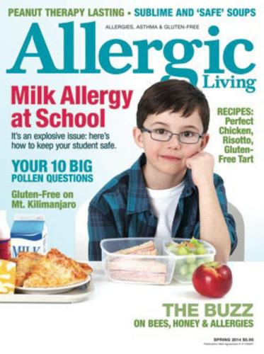 New Allergic Living Spring 2014 magazine. (PRNewsFoto/Allergic Living) (PRNewsFoto/ALLERGIC LIVING)