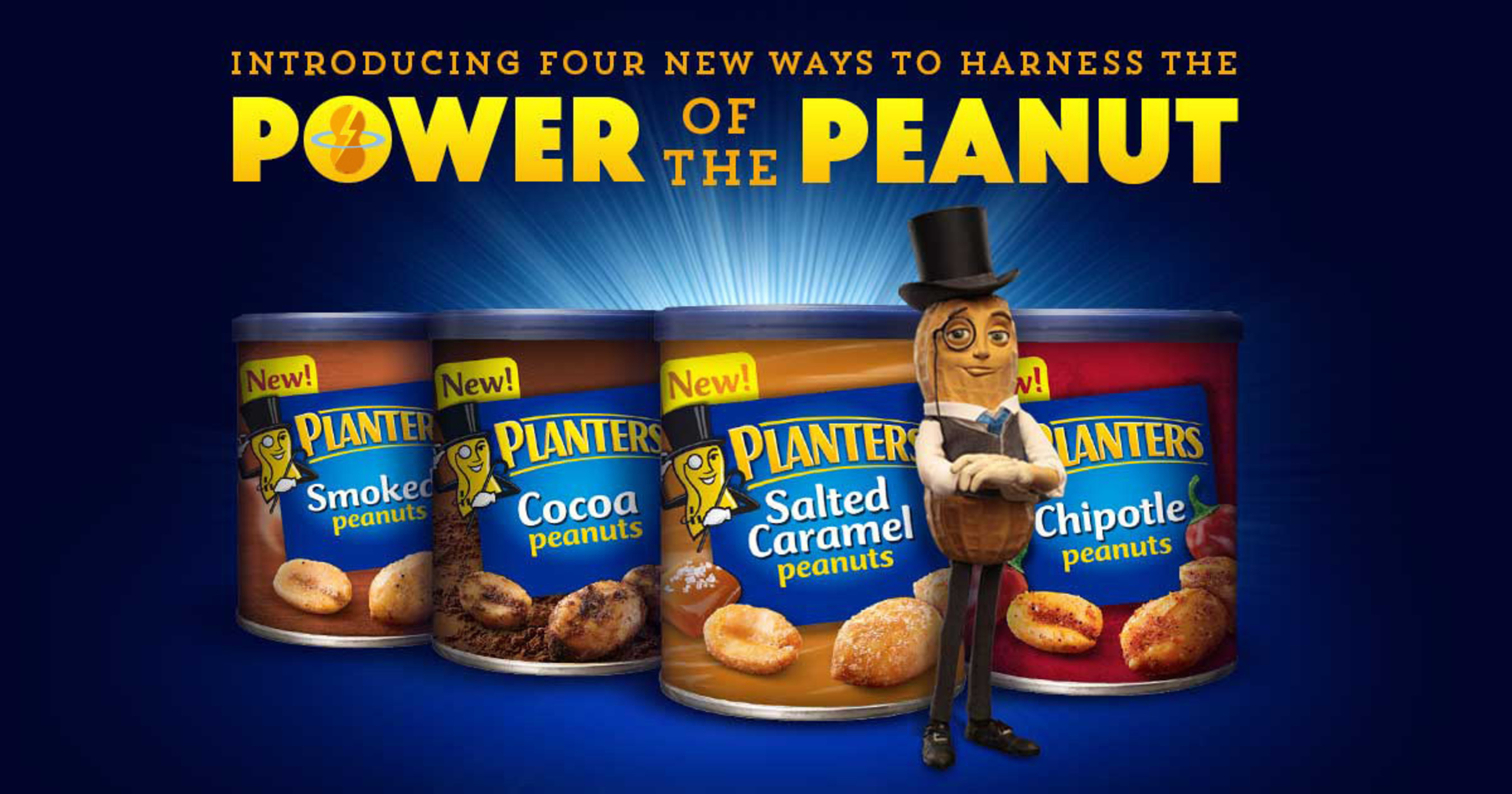 Introducing four new ways to Harness the Power of the Peanut (PRNewsFoto/Planters)
