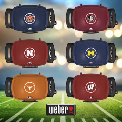 The Weber(R) Q(R) University grill series featuring Auburn University, Florida State University, University of Nebraska, University of Michigan, The University of Texas and University of Wisconsin are on sale now