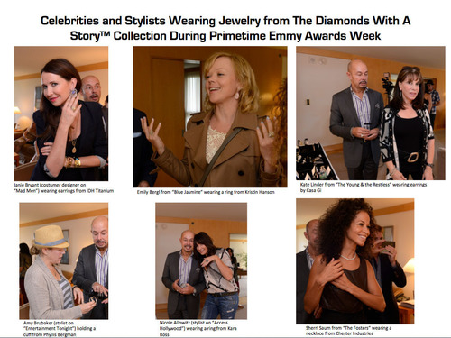 Celebrities Accessorized With Jewelry From The Diamonds With A Story Collection At Stylelab's Jewelry Event For The 65th Annual Primetime Emmy Awards, And On The Red Carpet.  (PRNewsFoto/StyleLab)