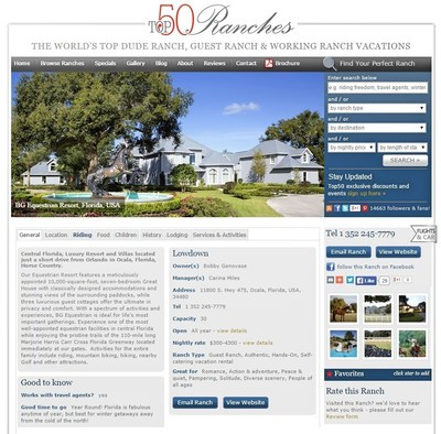 BG Equestrian Resort featured in Top50 Ranches.