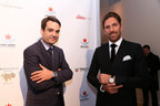 Kilian Muller, President of TAG Heuer North America, and Henrik Lundqvist, New York Rangers