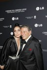 "Lady Gaga and Tony Bennett pose on the red carpet at their ""Tony Bennett & Lady Gaga: Cheek to Cheek LIVE!"" taping at The Rose Theater at Jazz At Lincoln Center on July 28, 2014 in New York City. The concert, which was supported by official Ultra HD sponsor LG Electronics USA, will be the first ever to be streamed in 4K. (PRNewsFoto/LG Electronics USA, Inc.)"