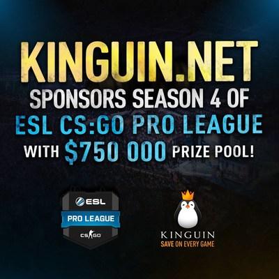 Join us in watching the Kinguin sponsored $750,000 ESL CS:GO Pro League! (PRNewsFoto/Kinguin)