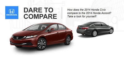 The Accord and the Civic are two of Honda's best-selling models.  (PRNewsFoto/Benson Honda)
