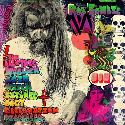 'The Electric Warlock Acid Witch Satanic Orgy Celebration Dispenser' is Rob Zombie's sixth solo studio album. Produced by Zeuss, it was recorded and mixed at Goathouse Studios. A full return to form by the rock icon, 'The Electric Warlock...' features John 5 (Guitar), Piggy D (Bass) and Ginger Fish (Drums) and will be released on April 29th, 2016 via UMe/T-Boy Records.