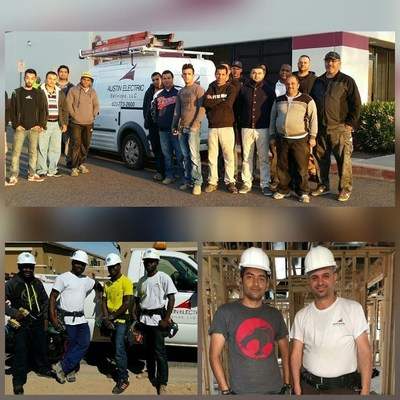 Austin Electric Services has strengthened its workforce by hiring and training as many as 150 refugees from Cuba, Africa, the Middle East, and Eastern Europe.