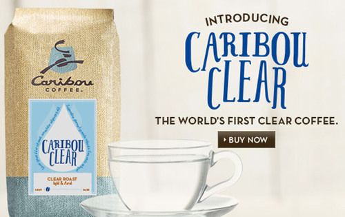 Caribou Coffee is proud to announce Clear Coffee, a proprietary new coffee blend that has removed the color while retaining all the flavor. Thanks to an innovation in bean cultivation techniques and processing, Caribou has been able to produce an ...
