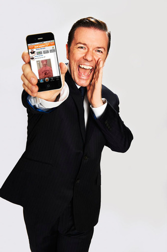 Ricky Gervais Introduces the Just Sayin' App - Download now in the App Store!  (PRNewsFoto/Just Sayin')