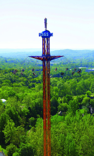World's Tallest Swing Ride Coming to Six Flags New England in 2014. Towering 40 stories and reaching speeds of over 35mph.  (PRNewsFoto/Six Flags New England)