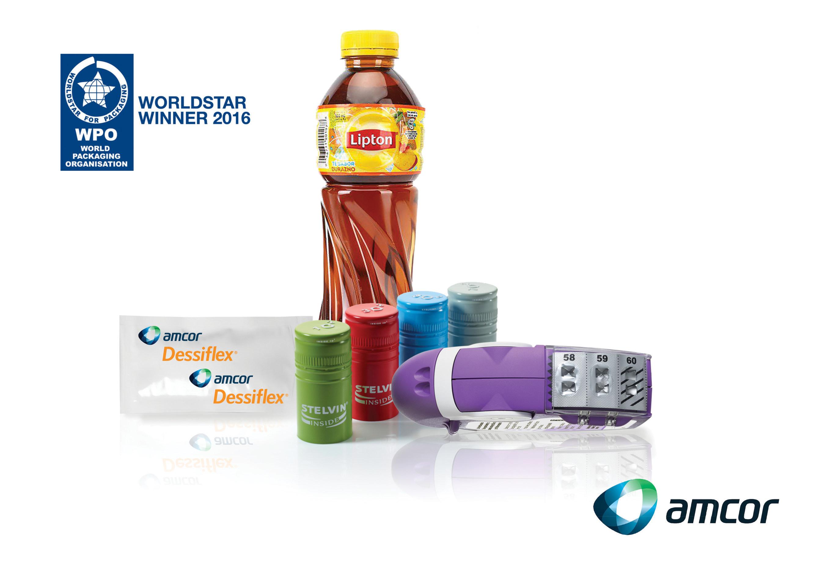 Amcor receives four WorldStar Awards for packaging design innovations