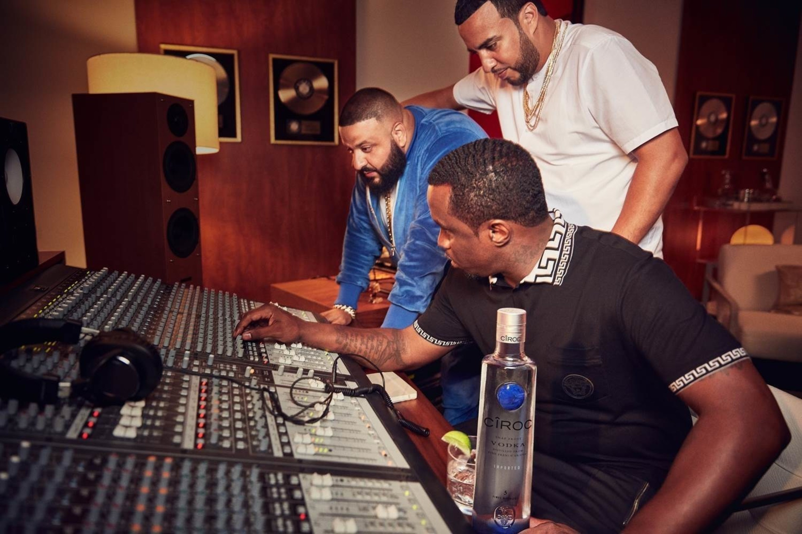 """Sean """"Diddy"""" Combs and the Makers of CÎROC Ultra Premium Vodka Toast to 'Let's Get It' Movement with DJ Khaled and French Montana"""