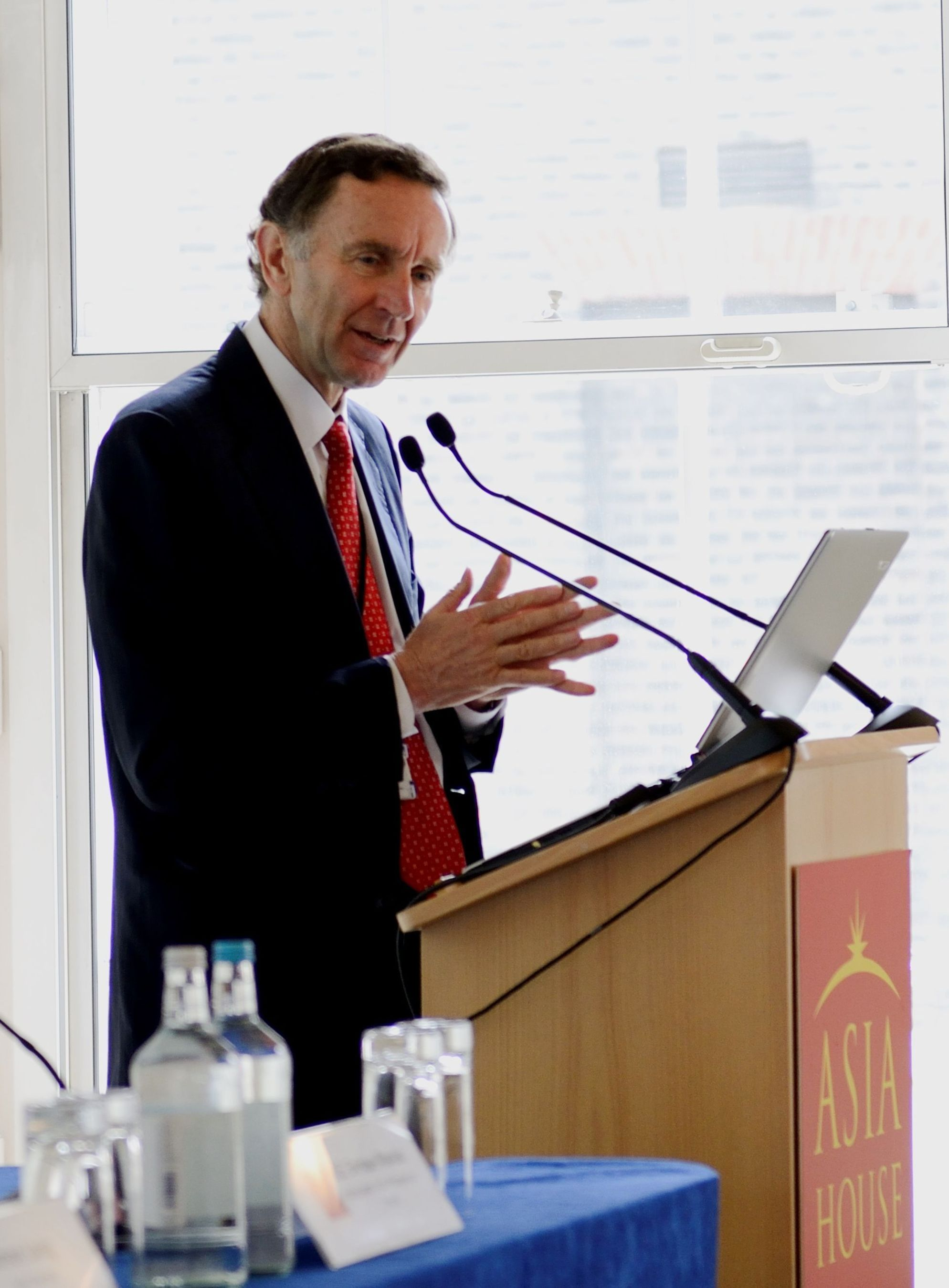 Lord Green of Hurstpierpoint delivered a speech at the Asia Trade-Shaping the 21st Century conference held at Asia House when he was the UK Minister of State for Trade and Investment (PRNewsFoto/Asia House)