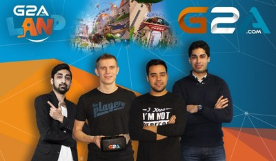 G2A's India Team with the Head of Oculus and G2A Land creator, left to right: Rohit Dahda - Head of India at G2A, Marcin Kryszpin - Head of Oculus, Rahul Bali - Marketing Specialist India, Arjun Anand - Sales Specialist (PRNewsFoto/G2A.com)