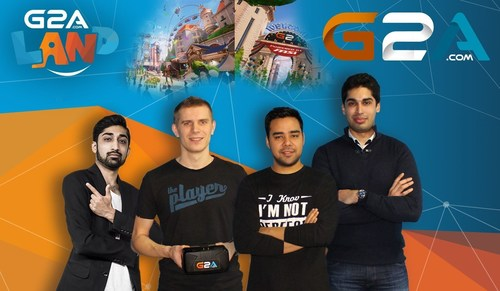 G2A's India Team with the Head of Oculus and G2A Land creator, left to right: Rohit Dahda - Head of India at G2A, Marcin Kryszpin - Head of Oculus, Rahul Bali - Marketing Specialist India, Arjun Anand - Sales Specialist (PRNewsFoto/G2A.com) (PRNewsFoto/G2A.com)