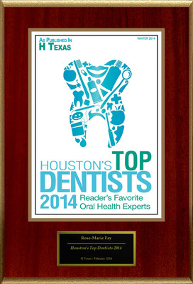 Dr. Rose-Marie Fay Selected For ''Houston's Top Dentists 2014''