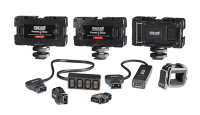 Maxell Professional Adds Specialized Connectors and Power Solutions to Product Portfolio to Meet the Needs of Broadcast and Video Professionals (PRNewsFoto/Maxell Corporation of America)