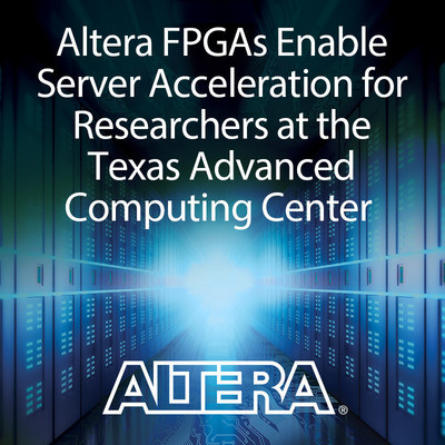 "Altera FPGAs on Microsoft ""Catapult"" boards will power a new high performance computing server cluster at the Texas Advanced Computing Center (TACC) at the University of Texas, Austin. The center will open the servers to workloads of researchers from all over the world, who can use the servers for their deep learning, and big data research. The FPGAs can offload processor workloads, allowing faster computing, at lower power consumption, which allows data centers to control power costs."