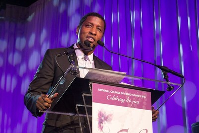 """NCNW presented the 2015 Uncommon Height Gala Crystal Stair Award to Kenneth """"Babyface"""" Edmonds for his outstanding achievements in the music industry and contributions as a  philanthropist."""