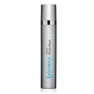 Exuviance Targeted Wrinkle Repair employs an innovative approach to target deep lines, enhancing skin's own natural collagen and its surrounding support to help volumize from within.