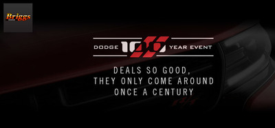 Take advantage of the Dodge 100 Year Event specials at Briggs Dodge. (PRNewsFoto/Briggs Dodge)