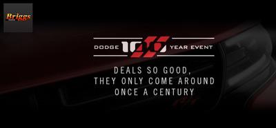 Take advantage of the Dodge 100 Year Event specials at Briggs Dodge. (PRNewsFoto/Briggs Dodge)
