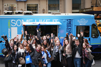 """Fairfield Inn & Suites launched its new hot breakfast program with the """"Some Like It Hot(SM)"""" food truck in NYC.  (PRNewsFoto/Fairfield Inn & Suites by Marriott)"""
