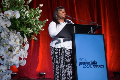 Host of the new Warner Bros. daytime talk show The Real Loni Love hosting the 2014 PromaxBDALocal and Just Cause Awards.