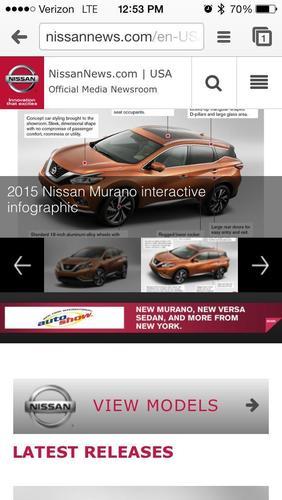 Nissan launches mobile-friendly online newsroom. (PRNewsFoto/Nissan North America)