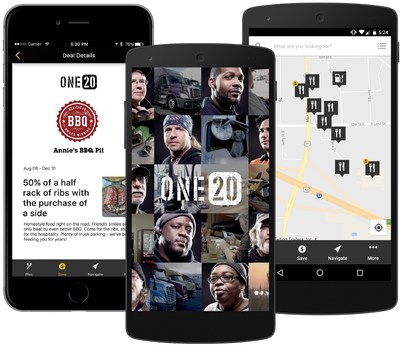 ONE20 is a free membership that empowers professional truck drivers to join a community, connect with the people and information that matters most, plan their trips and save using the ONE20 mobile app, available on both Android and iOS.