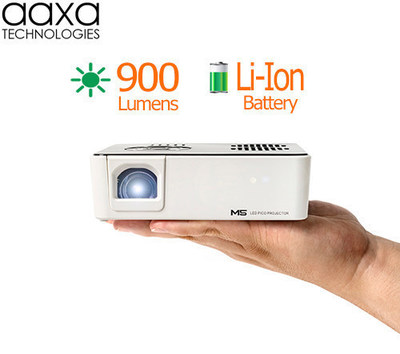 Introducing the AAXA M5 - The World's Brightest 900 Lumen Li-Ion Battery-Powered Micro Projector