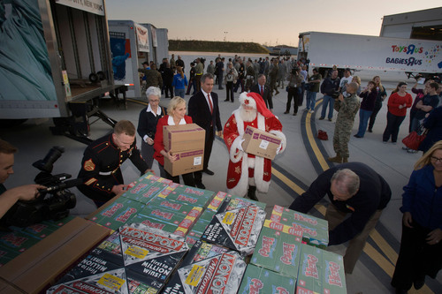 Toys for Tots delivers a message of hope to children recovering from Hurricane Sandy.  Over $700,000 in toys ...