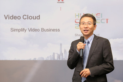 Kai Li, General Manager of Video Cloud, Huawei Carrier Software BU, announces the Video Cloud