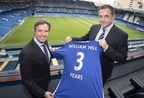 Chelsea FC Managing Director Christian Purslow (Left) and William Hill Chief Marketing Officer Alex O'Shaughnessy (Right) at Stamford Bridge, London at the launch of the new three-year betting partnership between Chelsea and William Hill. (PRNewsFoto/William Hill)