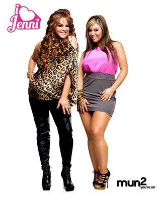 Jenni Rivera and Chiquis Marin from mun2 Reality Series 'I Love Jenni.'  (PRNewsFoto/mun2)