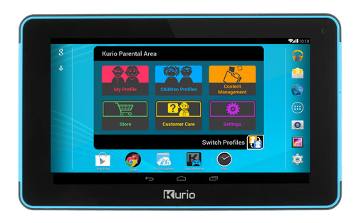 Kurio Xtreme adds a 24/7 Customer Care center, allowing parents to live chat with a tech expert right from the tablet or even to allow the technician to take over the tablet remotely to resolve any issues. It also comes with everything parents have come to expect and trust from Kurio: Kurio Genius kid-safe web surfing, advanced time controls, app management and advertisement controls, creation of up to eight completely independent user profiles, and a password-protected Kurio Parental Area. (PRNewsFoto/Techno Source)