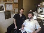 Chicago dentist Dr. David Gershenzon (left) provided dental treatment to Jesse, a patient in Dental Lifeline Network's Donated Dental Services (DDS) program.