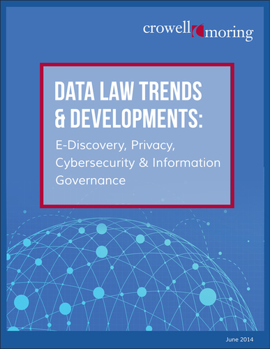 "Crowell & Moring LLP has released a report titled ""Data Law Trends & Developments: E-Discovery, Privacy, Cyber-Security & Information Governance."" The publication explores recent trends and anticipated future developments on critical issues related to the intersection of technology and the law. Specifically, the report highlights key cases and issues to watch in 11 areas of data law, including: information governance, cybersecurity, social media, technology-assisted review, criminal law, regulatory, cooperation, privacy, cross border ..."
