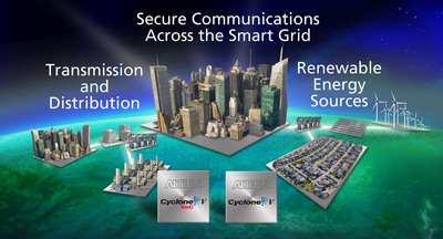 Secure communications across the smart grid.  (PRNewsFoto/Altera Corporation)
