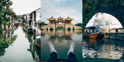 American photographer Jay Mantri enjoys the beautiful scenery during his trip to Discover Jiangsu