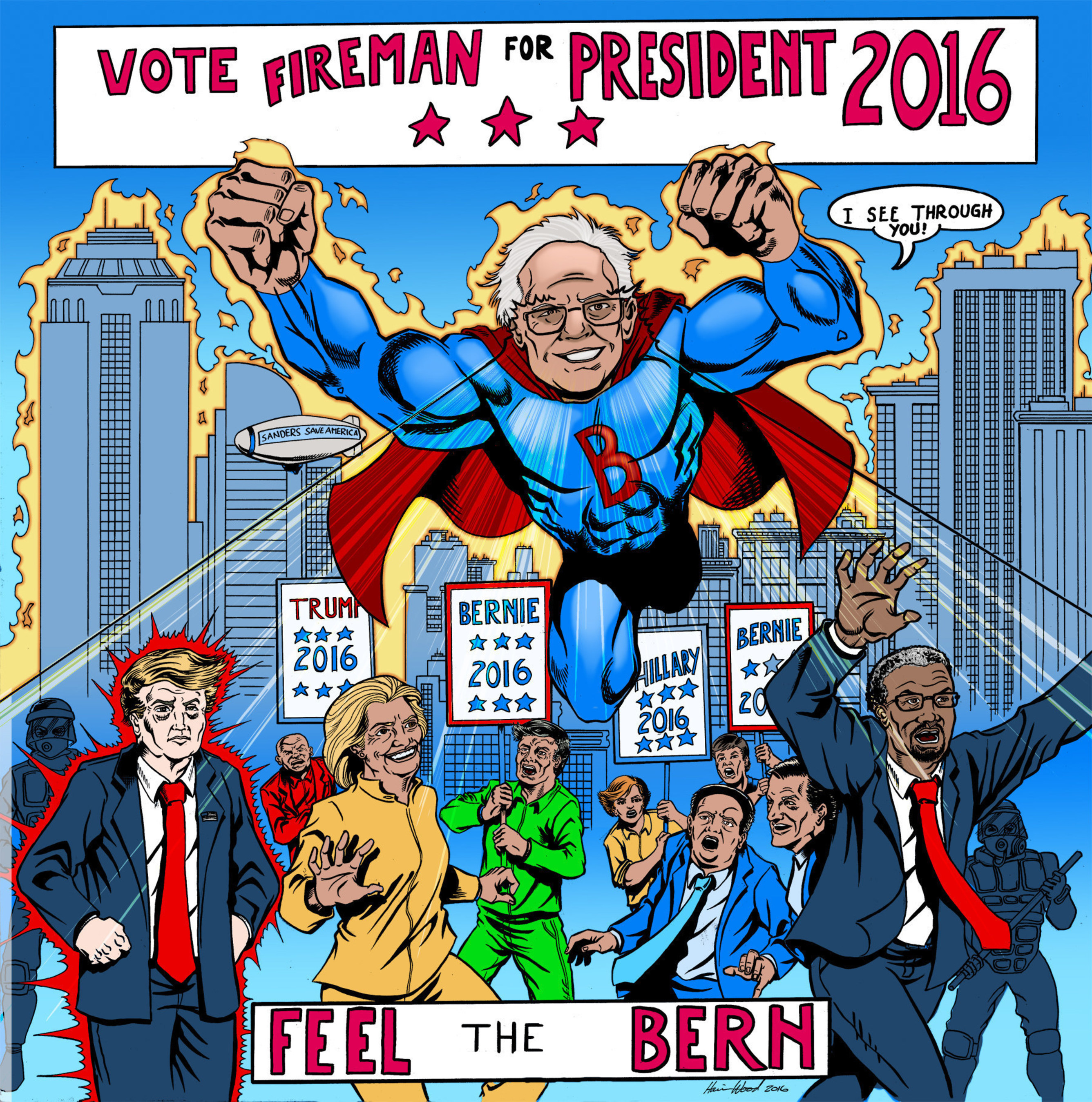 Notorious Pro-Bernie Sanders PAC Strikes Back with Political Satire Comic Series in New York Times