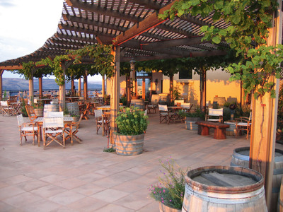 Maryhill Winery's vine-covered terrace.  (PRNewsFoto/Maryhill Winery)