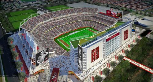 Levi's Stadium in Santa Clara will host Super Bowl 50.  (PRNewsFoto/Santa Clara Convention and Visitors Bureau)