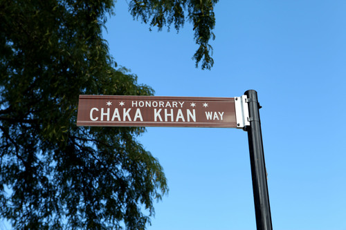 The City of Chicago Honors Ten-Time GRAMMY(R) Award Winner Chaka Khan with Street Naming.  (PRNewsFoto/Chaka ...